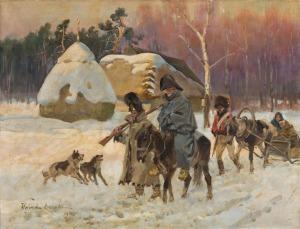 Jerzy Kossak, SCENA ZKAMPANII NAPOLEOŃSKIEJ
