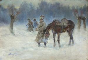 Kossak Jerzy, ŻOŁNIERZE NAPOLEOŃSCY W ZIMOWEJ WĘDRÓWCE