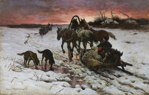Ajdukiewicz Zygmunt, POWRÓT Z POLOWANIA, 1887