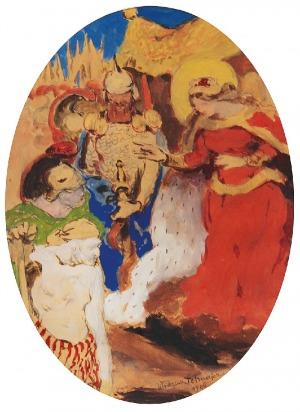 Włodzimierz TETMAJER (1862-1923), Scena historyczna, 1906