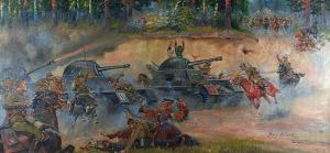 Jerzy KOSSAK (1886-1955), Bitwa pod Kutnem, 1939