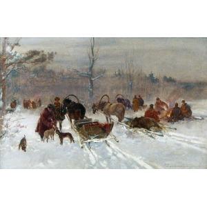 Franciszek ZYGMUNTOWICZ (1875-1947), Po polowaniu na dzika
