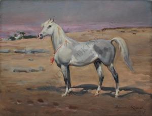 Wojciech Kossak (1856-1942), Koń arabski (1927)