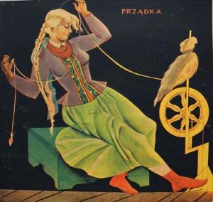Zofia Stryjeńska (1894-1976), Ceramika, Prządka, Snycerstwo, Tkactwo