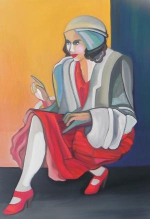 Paweł Porada, Kobieta w czerwonej sukience