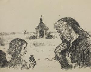 Wlastimil Hofman (1881-1970), Gorejące serce, 1914