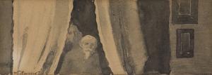 Włodzimierz Tetmajer (1862-1923), Scena we wnętrzu – portret ojca artysty