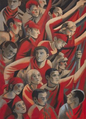 Juliusz Lewandowski, Obraz czerwony, 2017
