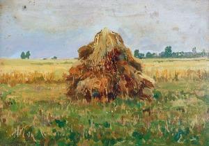 Iwan TRUSZ (1869-1941), Pejzaż ze snopem, 1913