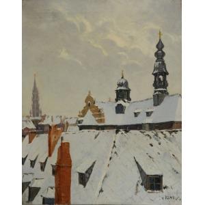 Artur KLAR (1895-1942), Lwów zimą, lata 30. XX w.