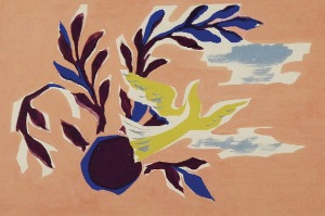 Tadeusz GRONOWSKI (1894-1990), Gołąbek pokoju - projekt kompozycji ściennej (?), lata 70 XX w.