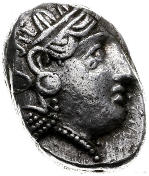 tetradrachma ok. 393-300 pne; Aw: Głowa Ateny w prawo; ...