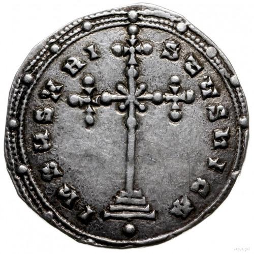 miliaresion 945-959, Konstantynopol; Aw: Napis w 5 wier...