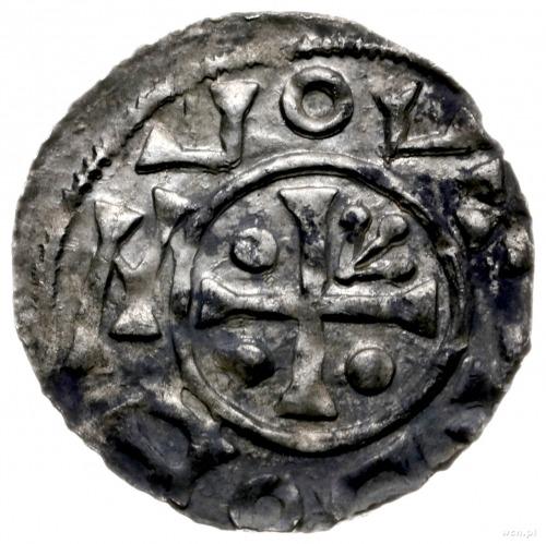 denar, Praga; Aw: Krzyżze strzałą i kulkami w kątach; ...