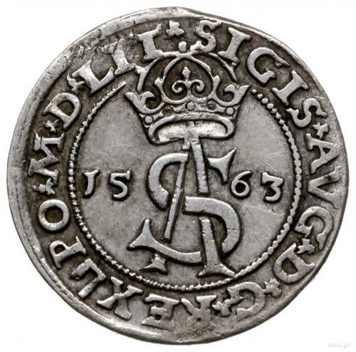 trojak 1563, Wilno; z herbem Topór na awersie, na rewer...
