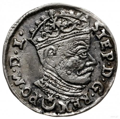 trojak 1581, Wilno; z herbem Leliwa na awersie i małym ...