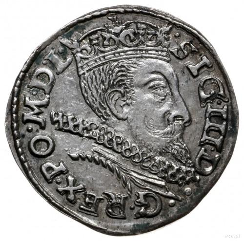 trojak 1601, Poznań; litera P przy Orle; Iger P.01.2.a;...