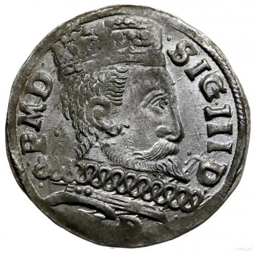 trojak 1601, Wschowa; gwiazda na końcu napisu na rewers...