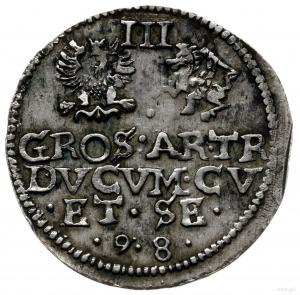 trojak 1598, Mitawa; kryza pojedynczej grubości, na awe...