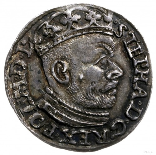 trojak 1584, Olkusz; litery G - H obok Orła i Pogoni; I...