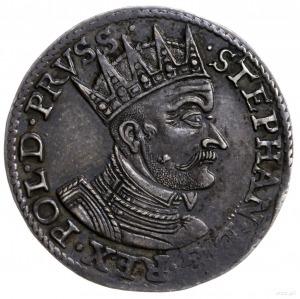trojak 1579, Gdańsk; Aw: Popiersie króla w prawo i napi...