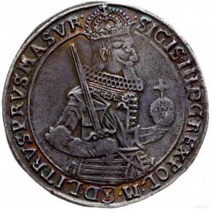 talar 1630, Bydgoszcz; Aw: Wąska półpostać króla bez ko...