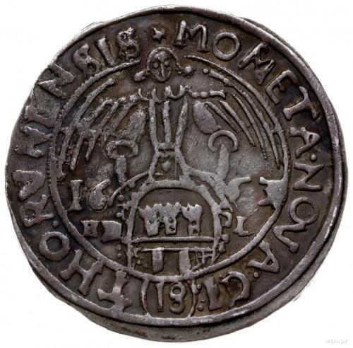 ort 1663, Toruń; Kop. 8327 (R1), Tyszkiewicz 2 mk; ciem...