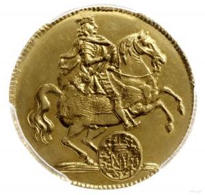 dukat wikariacki 1711, Drezno; Aw: Król na koniu; Rw: D...