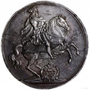 talar wikariacki 1711, Drezno; Aw: Król na koniu; Rw: T...