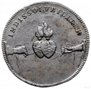1/8 talara zaślubinowa, 1719/ IGS, Drezno; wybita z oka...