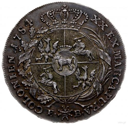 półtalar 1784, Warszawa; Plage 370, Berezowski 12.50 zł...