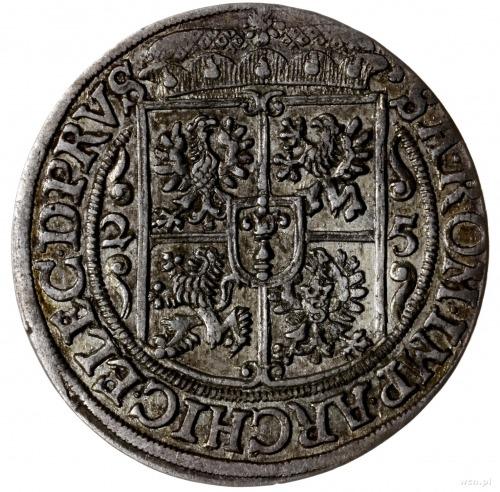 ort 1625, Królewiec; znak menniczy na awersie, odmiana ...