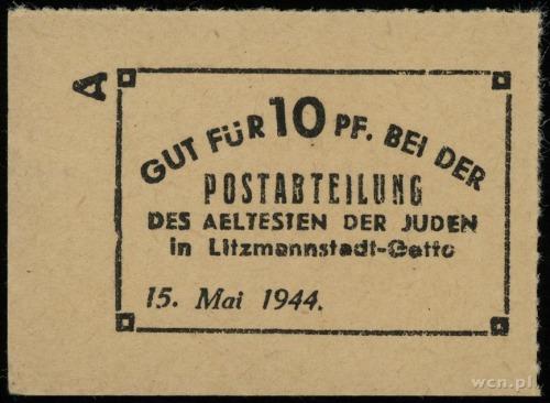 10 fenigów 15.05.1944, papier kremowy; Lucow 876 - nie ...