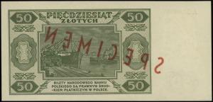 50 złotych 1.07.1948, seria A, numeracja 1234567 / 8901...