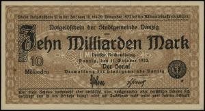 10 miliardów marek 11.10.1923, bez oznaczenia serii i n...