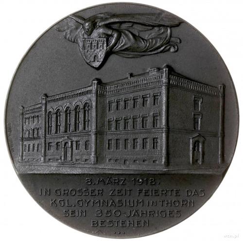 medal z 1918 r. autorstwa Oertela wybity z okazji 350. ...