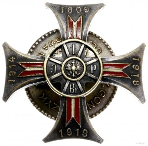 podoficerska odznaka pamiątkowa 11 Pułku Ułanów Legiono...