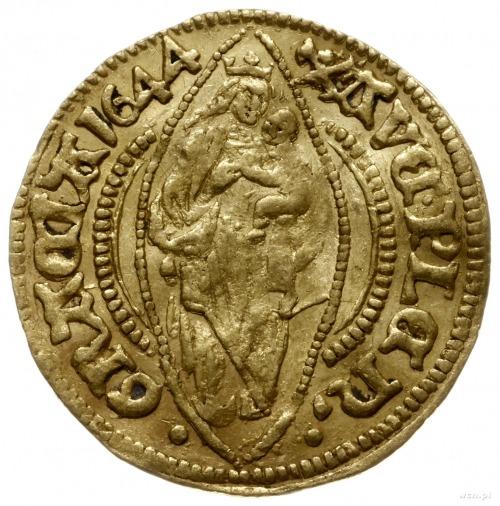 dukat 1644; Aw: Madonna z dzieciątkiem, poniżej herb mi...