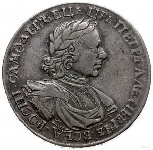 rubel 1718, Moskwa; na odcięciu rękawa litery OK, bez a...