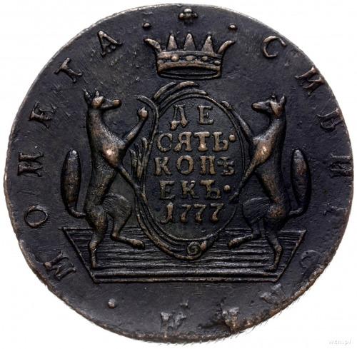 10 kopiejek syberyjskich 1777 KM, Suzun; Bitkin 1038, B...