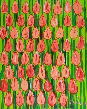 Edward DWURNIK (ur. 1943), Pomarańczowe tulipany, 2016