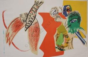 "Marc Chagall (1887-1985), Kompozycja (""XXe Siècle"", 1966, Mourlot #470)"