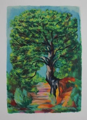Mojżesz Kisling wg (1891-1953), litografia barwna, 28.2x19.5 cm