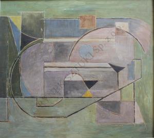 Ewa Maria Łunkiewicz-Rogoyska (1895-1967), Kompozycja kubistyczna (1951)