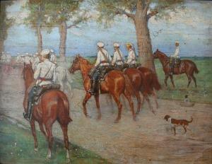 Antoni Piotrowski (1853-1924), Oddział konny