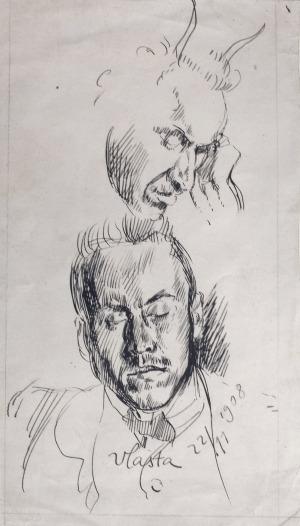 Wlastimil HOFMAN (1881-1970), Portret mężczyzny, [22.11.1908]