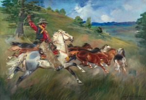 Jerzy KOSSAK (1886-1955), Na prerii, [1929]