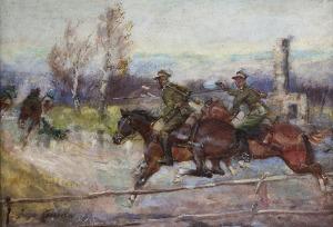 Jerzy KOSSAK (1886-1955), Pościg, [1935]
