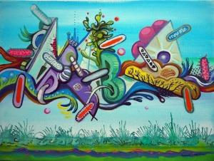 Piotr Saul, Graffiti
