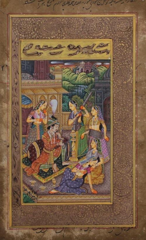 Szkoła Rajput, Scena miłosna w haremie